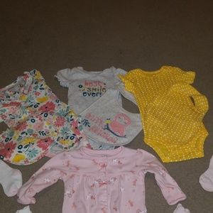 0-3month old baby girl outfits